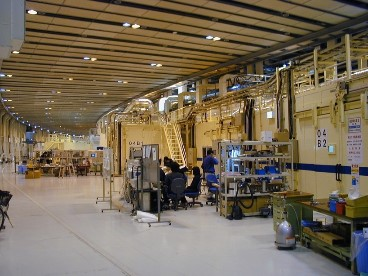 放射光実験施設の写真